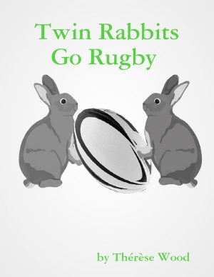 TWIN RABBITS GO RUGBY